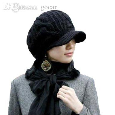 Wholesale Etang Men Women Slouchy Cabled Pattern Knit Beanie Crochet Rib Hat  Brim Newsboy Cap Knitted Hat Cap Hat From Gocan 77ef59608ed