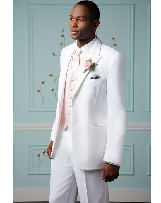 Classic Style Groomsmen Suit White Wedding Suits For Men 2015 Peaked ...