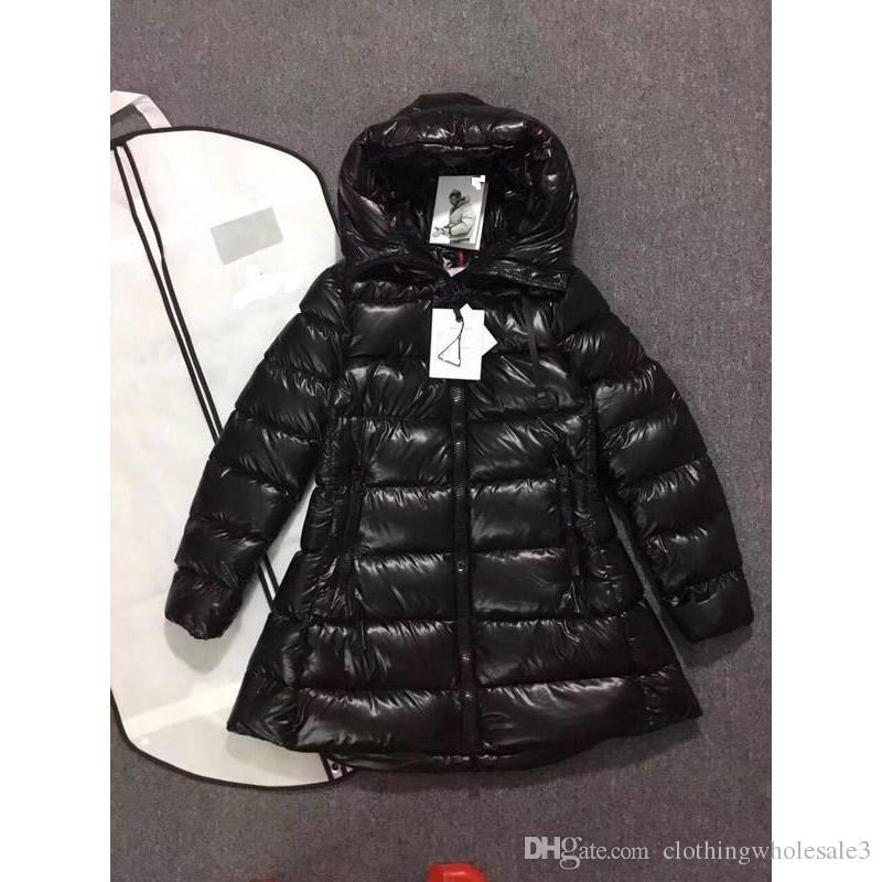 c3e52d302 2019 Ladies Winter Down Coats Black 90% White Goose Down Jackets ...
