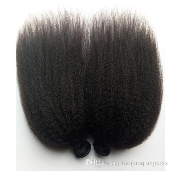 Virgin Brazilian human Hair Weft Unprocessed Hair 8-26inch kinky straight Natural Color Indian Remy Hair Extensions Factory price