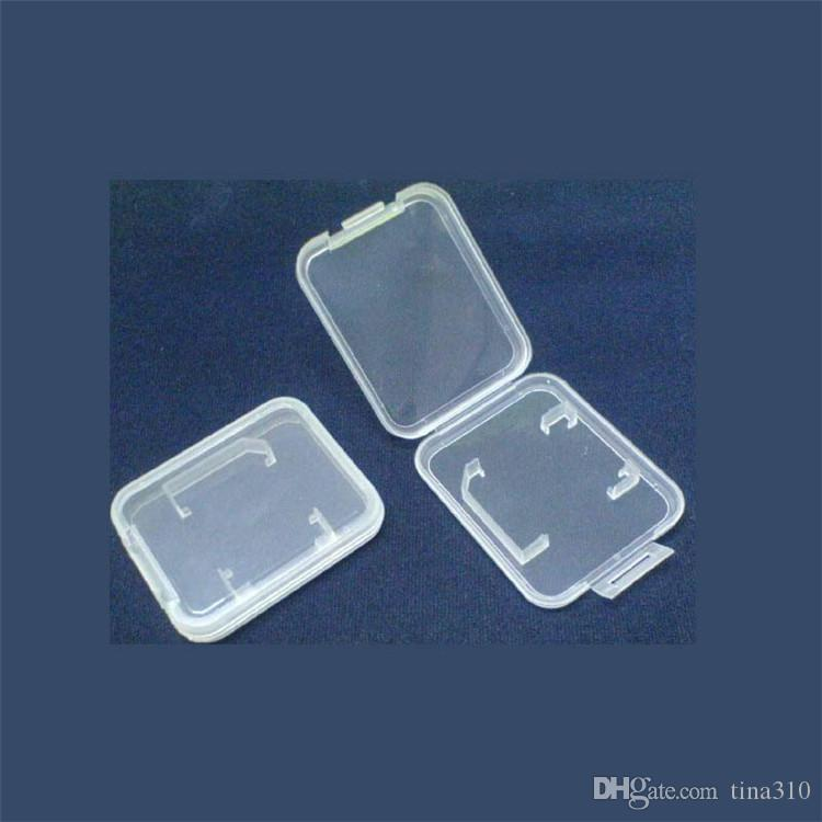 Scheda di memoria Scatole di imballaggio in plastica trasparente Scatola di imballaggio in vendita SD T-Flash TF Scatola di imballaggio Scatola di stoccaggio trasparente IB595