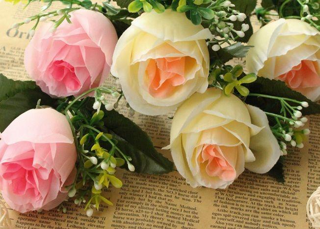 fiore di rosa della seta corea stile rosa nozze e la casa di decomrazione fashiong partito fiore decorativo spedizione gratuita