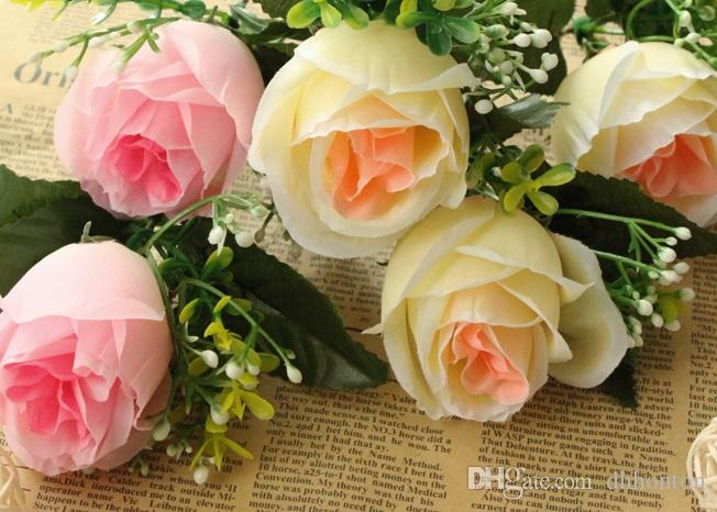 soie rose fleur corée style rose mariage et maison decomration fashiong parti décoratif fleur livraison gratuite
