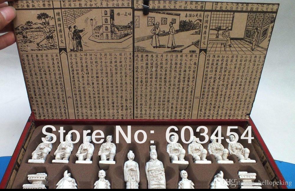 체스 세트로 도매 저렴한 희귀 대형 중국어 드래곤 나무 가죽 상자