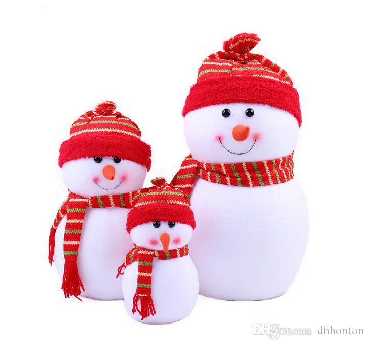 Outdoor Christmas DecoChritmas Small Snowman With Colorful For ...