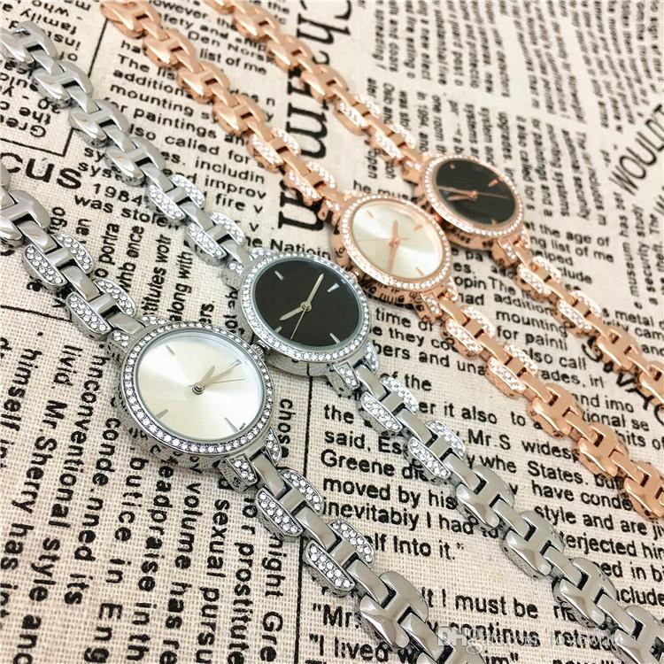 A pcsNew Fashion Style Women Watch Lady silver Diamond wristwatch Special Bracelet Luxury Fashion High Quality Jewelry Buckle Free box