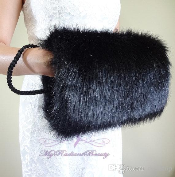 Best Quality Faux Fur Winter Hand Muff Avorio Bianco Nero Rosso Colore economici Scaldamani da sposa Scaldamani Accessori da sposa