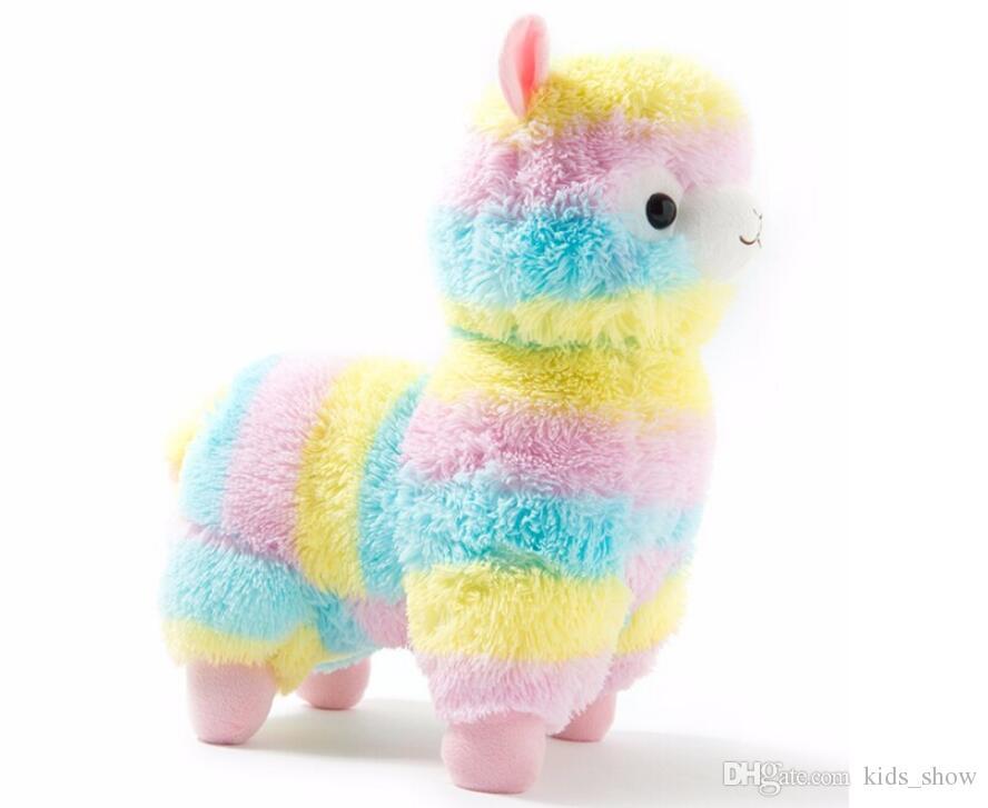 17 cm Bonito Arco-Íris Alpacasso Kawaii Alpaca Lhama Arpakasso Pelúcia Macia Boneca de Brinquedo De Pelúcia Animais menino presente de aniversário menina