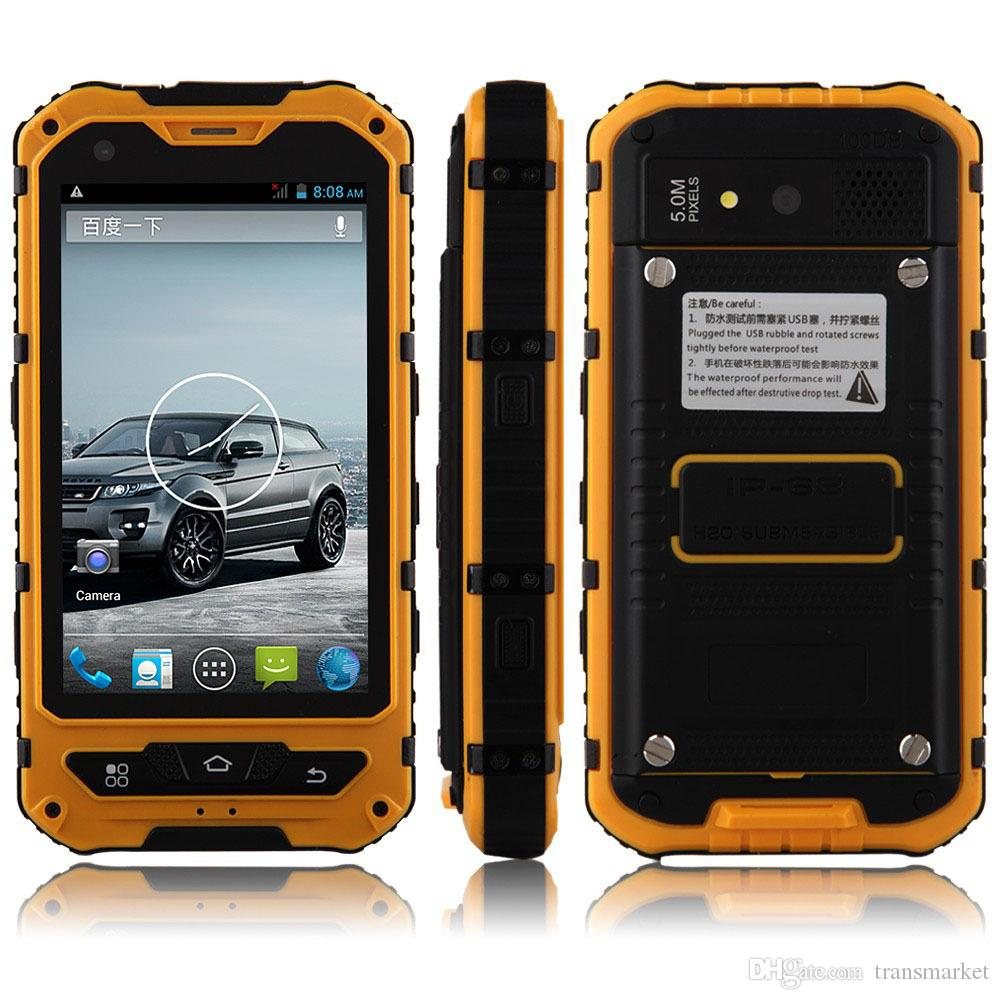 official photos 25dee 3f3d5 Original discovery A8 A8 IP68 Waterproof Shockproof Rugged Phone MTK6572  Dual Core 4.0 Gorilla Glass Android 4.2 4GB 3G GPS 3000mAh 5.0MP