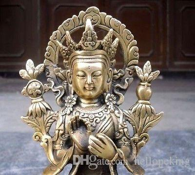 Collectible Tibet Tibetan Buddhism Maitreya Bronze buddha Statue