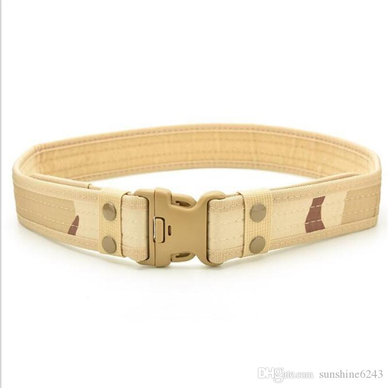 Men outdoor tactical belt Oxford cloth canvas camouflage EVA sponge  belts