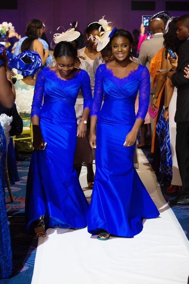 Royal blue mermaid bridesmaid dresses 2016 with 34 long sleeves see larger image ombrellifo Images