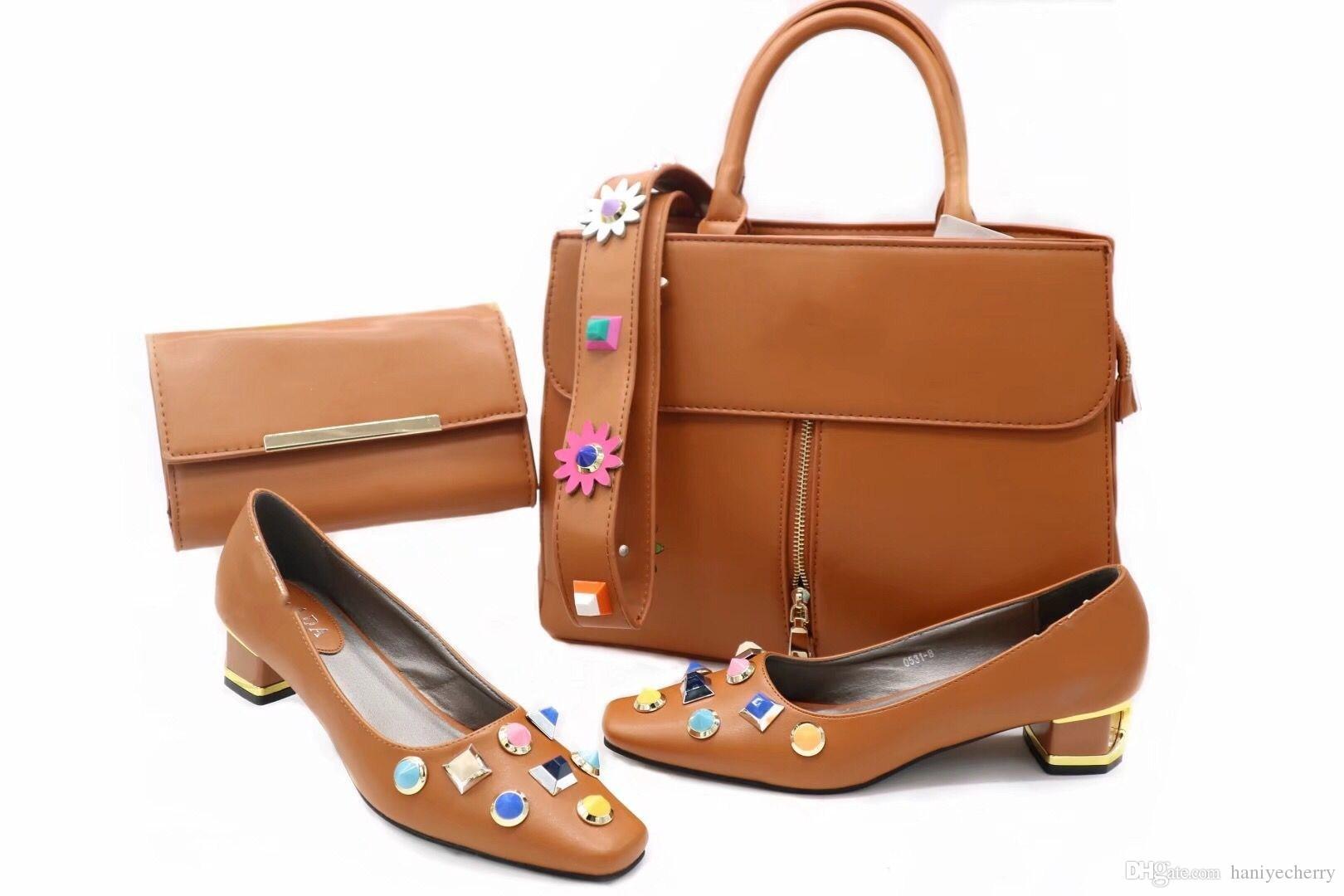 0acc3cdd70c2dc Acheter Dessins Et Modèles Italiens Chaussures Assorties Sac Et Chaussures  De Style Africain De $80.64 Du Haniyecherry   DHgate.Com