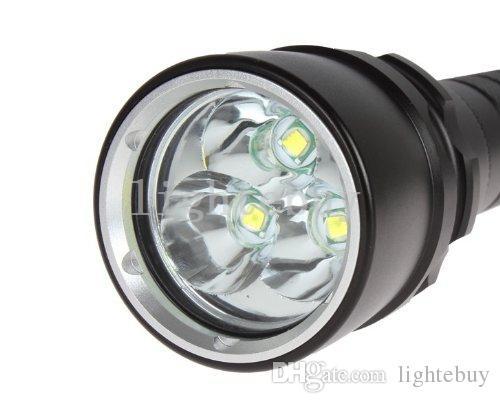 Toptancı 3X XML T6 U2 Yüksek Güç 4000 Lümen led El Fenerleri Torch Işık Lambası Su Geçirmez Süper T6 feneri