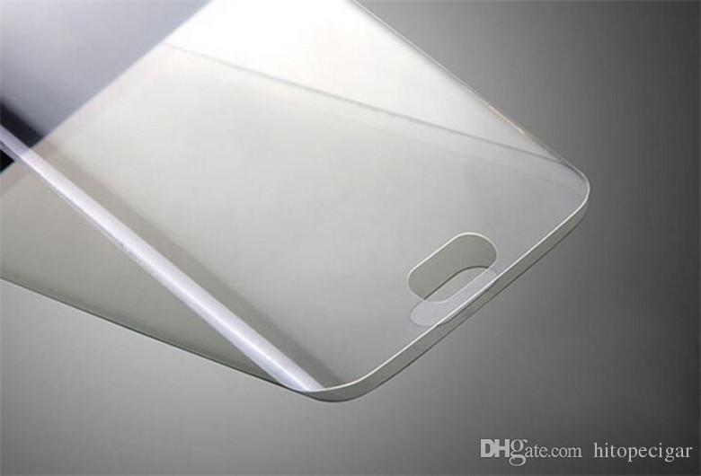 Tam Kapsama Temizle TPU Ekran Koruyucu Film Kapak Kavisli Perakende Paketi ile Samsung Galaxy S6 S6 kenar S6 kenar artı S7 S7 kenar