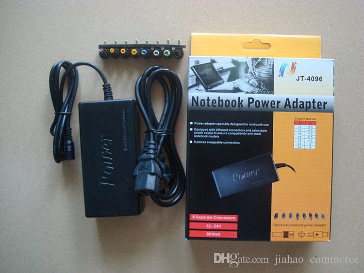 Libero universale caldo 96W di trasporto computer portatile notebook 15V-24V AC Power Adapter ricarica con 8 connettori