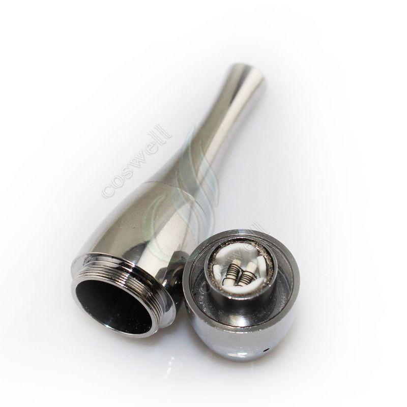 Bowling-Zerstäuber wiederaufbaubar Vase Kanone Wärmedämmung Tank Doppelspule Vape Herbal Dampfwachs Dry Herb Vaporizer Pen e cigatette