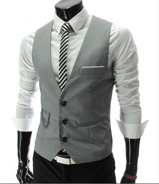 Herren Westen Oberbekleidung Herren Weste Herren Casual Anzüge Slim Fit Stilvolle Kurze Mäntel Anzug Blazer Jacken Mäntel Koreanische Hochzeit Herren V-Ausschnitt Weste J0620