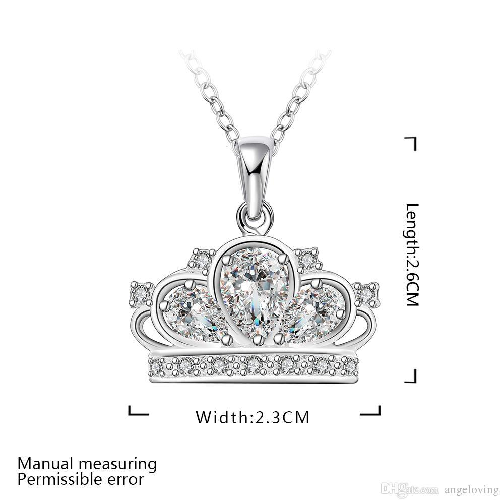 wholesale pretty gift 925 silver jewelry clear zircon