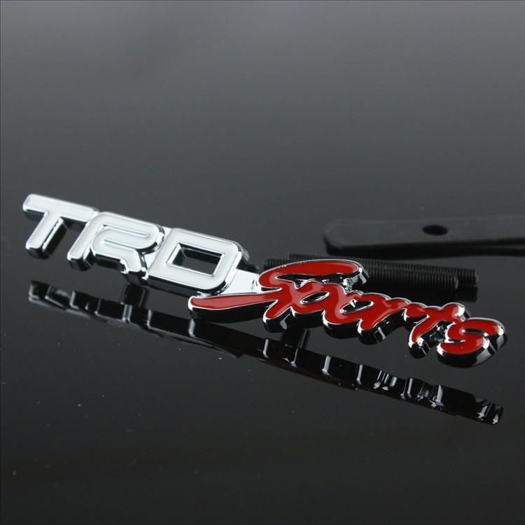 Trd Sports 3d Metal Front Hood Grille Badge Grill Emblem Auto ...