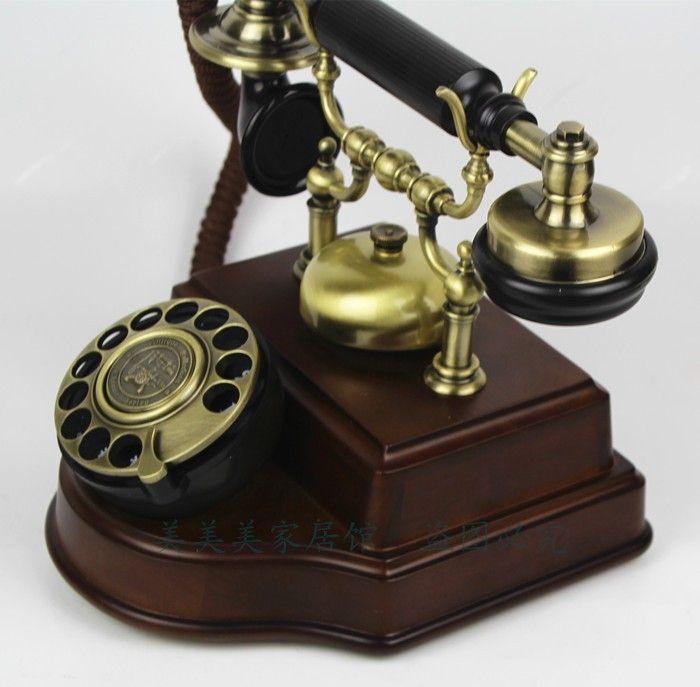 Wood Fashion Vintage Old Telephone Antique Telephone Swivel Plate Rotating Antique  Telephone Landline Phone Landline Telephone Landline Phone Desk Office ... - Wood Fashion Vintage Old Telephone Antique Telephone Swivel Plate
