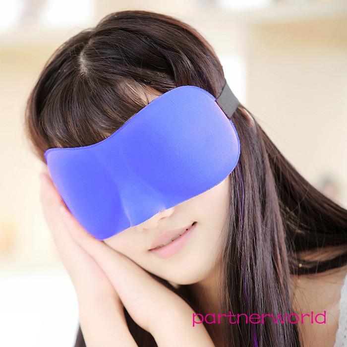 High Quality Sleep Masks Travel Sleep Rest 3D Sponge Eye Shade Sleeping Eye Masks Cover Nap Rest Patch Blinder For Vision Care