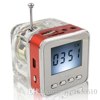 Original NIZHI TT028 FM Radio Mini Speaker Portable Micro SD / TF Music MP3 Player Sound Box LCD Screen