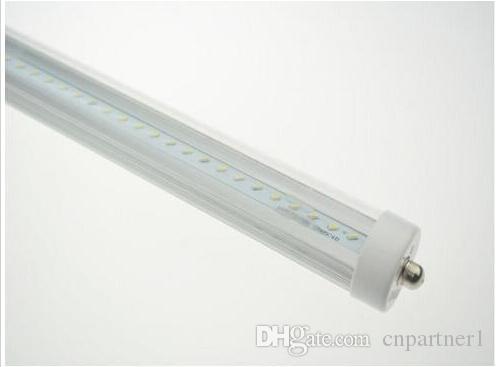 Super helle geführte Leuchtröhre 8ft T8 FA8 beleuchtet einzelne Pin-LED-Leuchtröhre 45W SMD 2835 2400mm 8 Füße LED Leuchtstofflampen UL CE ROHS