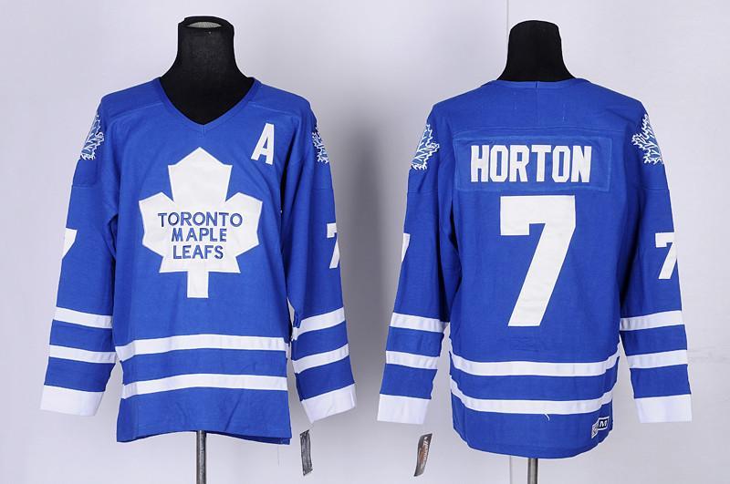 promo code 91f7a 9314d Top Quality ! CCM Men Toronto Maple Leafs Ice Hockey Jerseys #7 Tim Horton  Retro Vintage Authentic Stitched Jerseys Mix Order !