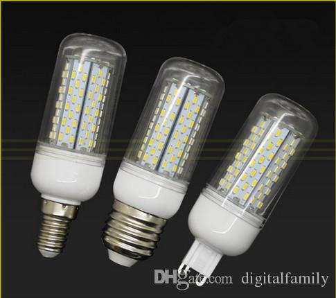 E27 E26 GU10 B22 E14 G9 12W LED Lamp 85-265V 3014 120 led Corn Bulb white/ warm white light With Cover LED Chandelier Bulbs 2 Years Warranty