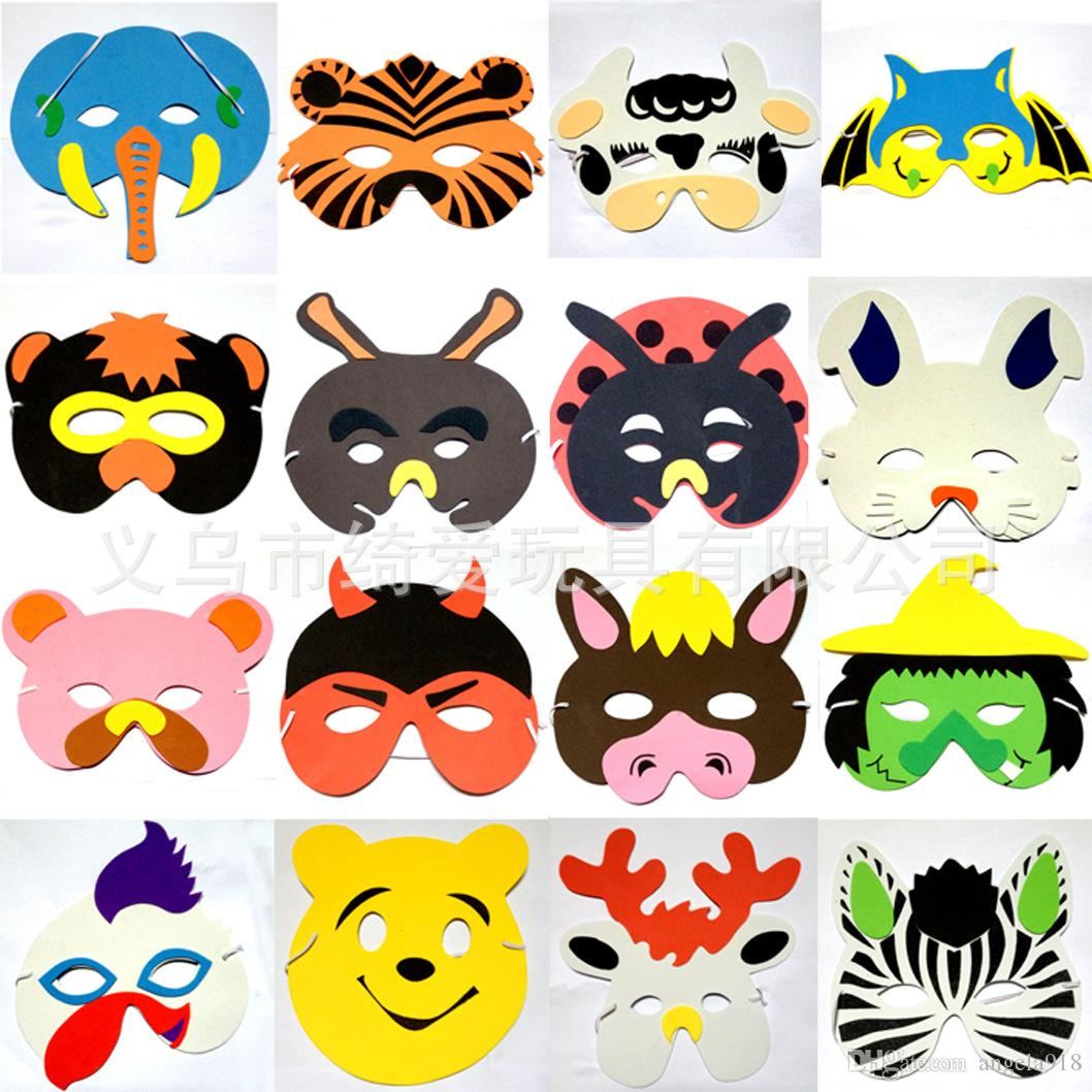 New Christmas Kids Cute Children Masks Animals Boys And Girls ...