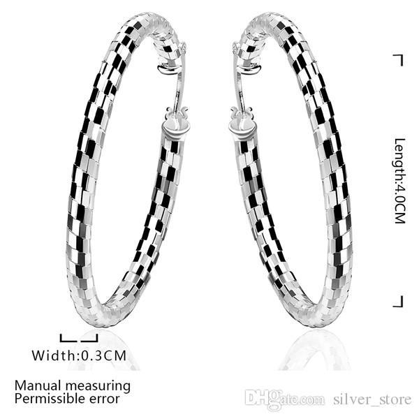 العلامة التجارية الجديدة لوحة الفضة الاسترليني جلد الثعبان حلقة الأذن DFMSE594، و 925 الفضة تتدلى الثريا الأقراط النسائية 10 أزواج مصنع الكثير مباشرة