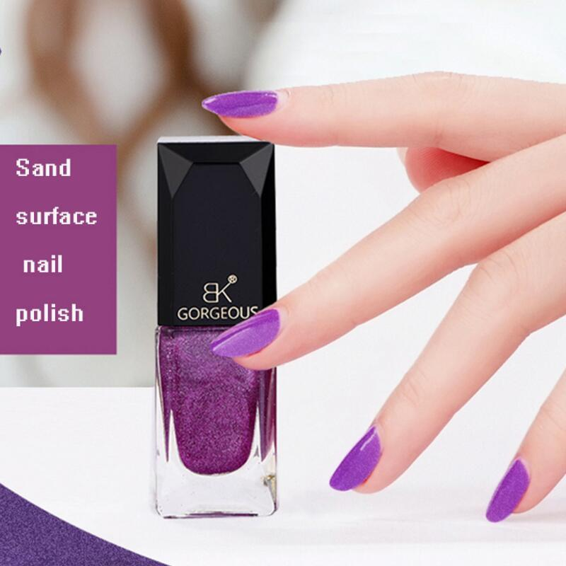 New Surface Crystal Sand Nail Polish Scrub Nail Lacquer Long Lasting ...