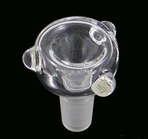 Yeni tasarım 14mm veya 18mm Cam Kase Cam fıskiye ve Kül Catcher için Cam bong su boruları sigara Kase