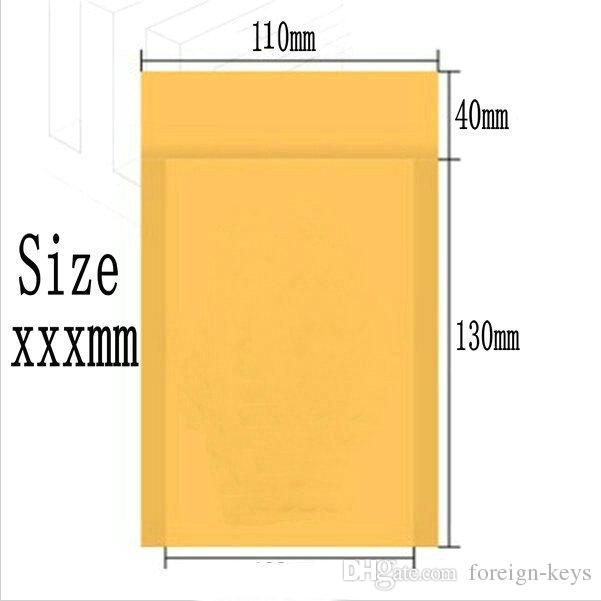 2015 Factory sales Bubble Mailers Padded Envelopes Bags KRAFT BUBBLE MAILERS MAILING ENVELOPE BAG 100mm X 130mm