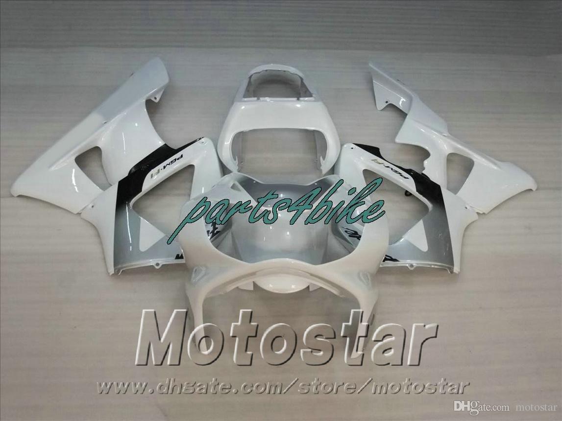 Motorcycle fairings for HONDA CBR929RR fairing kit CBR 929 2000 2001 white silver plastic bodykits CBR 900 RR 00 01 CBR900RR HB94