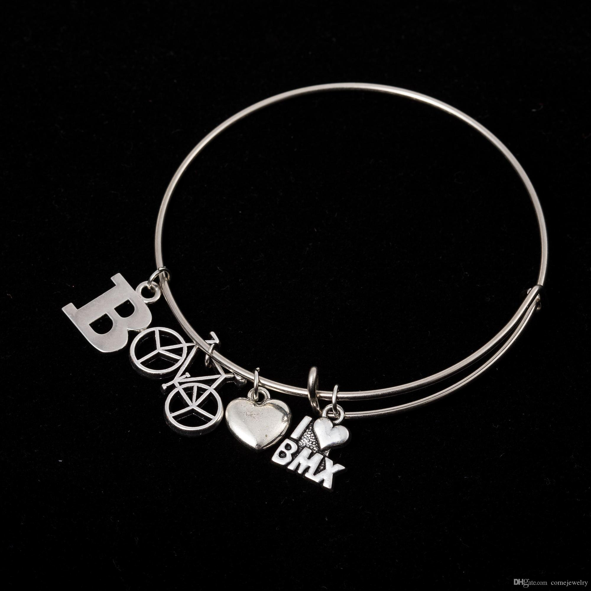 bracelets bangles cancer bracelet steel personalized charm pin breast bangle stainless