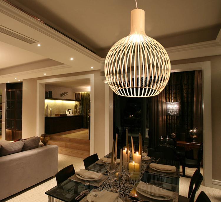 New Modern Design Pendant Lamp Cage Light Fixture Suspension ...