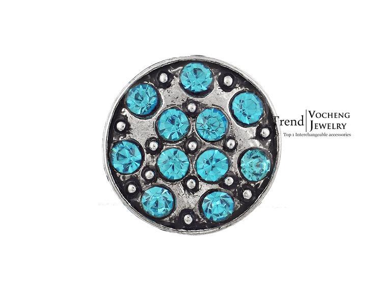 صغيرتي الزنجبيل المفاجئة مجوهرات 12 ملليمتر المفاجئة 3 ألوان للتبادل كريستال زر مجوهرات مخصص زر التقط Vn-484