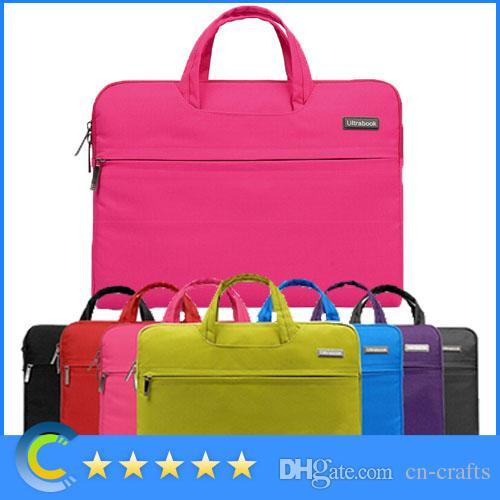 حقيبة كم حاسب محمول لوح دفتر ملاحظات تحمل حقيبة مقبض ل 11 12 13 14 macbook air pro retina laptop Asus maletin portatin