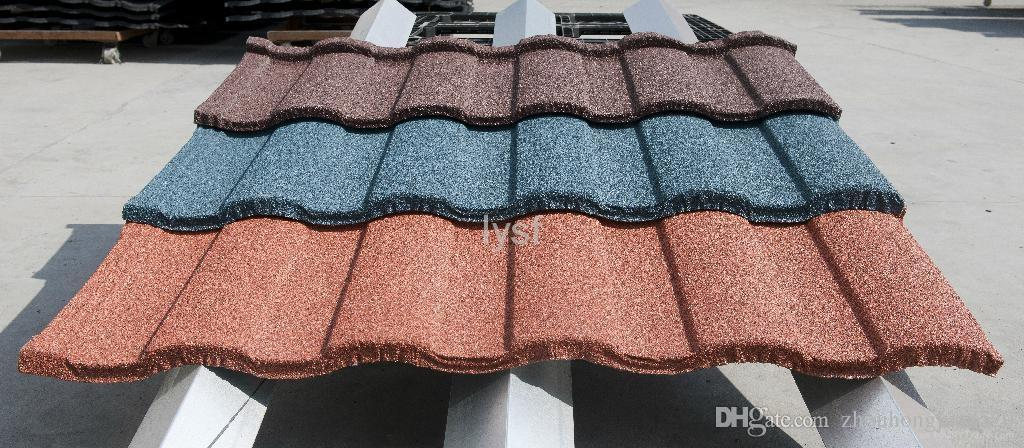 Building Material Aluzinc 0.4mm Thickness Stone Coated Metal Roofing Sheet  With Green Back Stone Chips Coated Metal Roof Tile Stone Coated Metal  Roofing ...