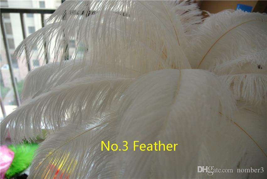 Venta al por mayor 100 unids 12-14 pulgadas Pluma de avestruz pluma blanca para la boda centro de mesa decoraction del banquete de boda decoración para el hogar