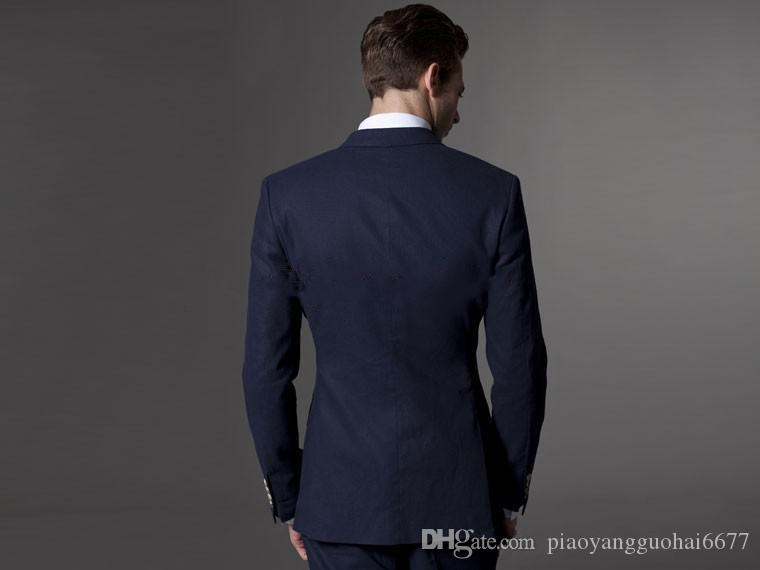 Craft tailored high-quality latest two grain of buckle the gun collar fashion elegant high-grade two-piece suit man