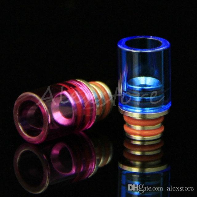 4 Estilos Pyrex Vidro 510 Ego Longa gotejamento dicas wide bore gotejamento ponta curta bocal claro ss acrílico colorido driptip para atomizador