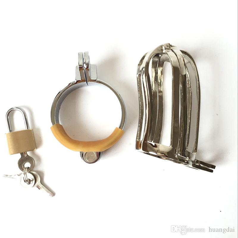 2014 Super Male Anti-Shedding Cock Cage Double-Close Chastity Art Device /Cock ring / BDSM Sex Stoys