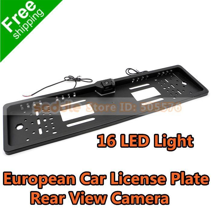 Big Promotion ! European Eu Car License Plate Frame Rear View Camera ...