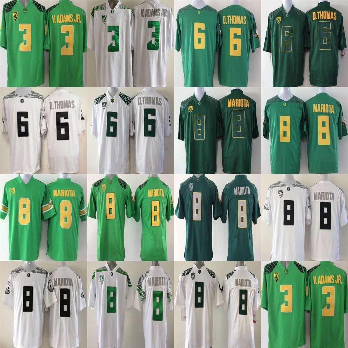 2017 Cheap Wholesale Mens Oregon Ducks 3 Vernon Adam Jr. 6 D.Thomas 8 Marcus  Mariota White Green College Stitched Football Jerseys UK 2019 From  Fanatics 223307bf6