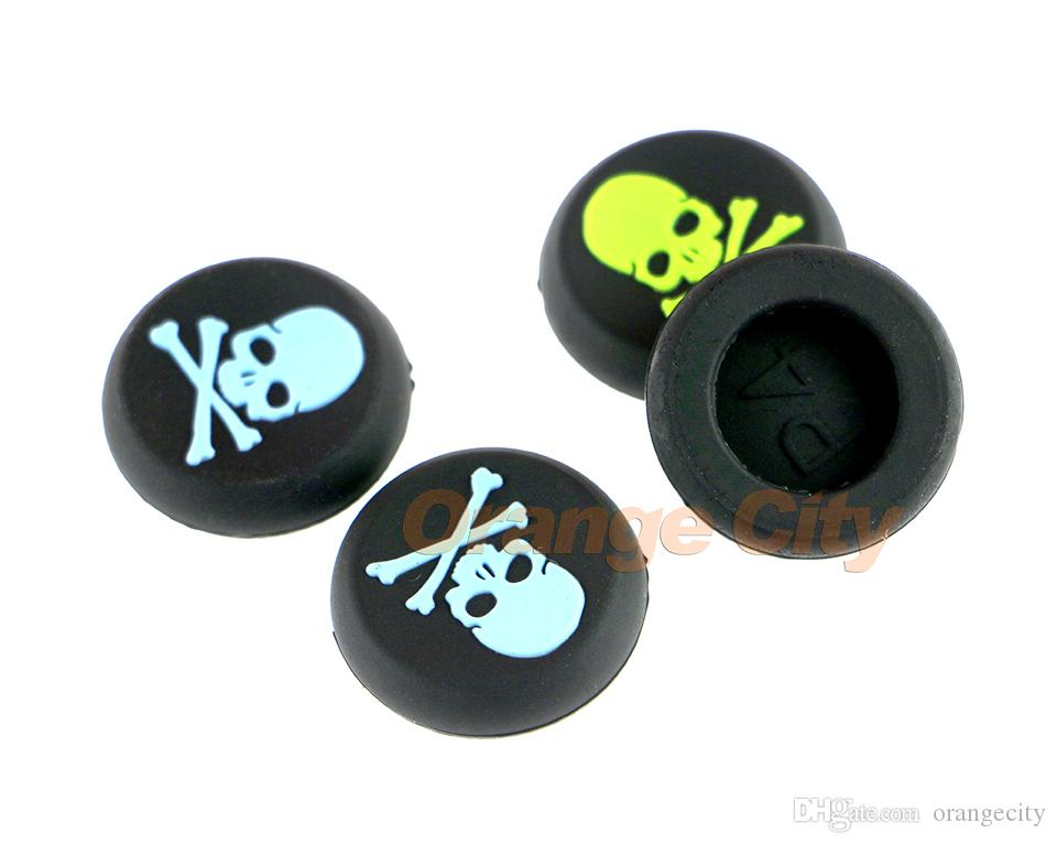 Skull Head Thumb Stick Grips Cap For Sony Playstation 4 PS4 PS3 Analog Stick Grip For Xbox one Xbox 360 Controller