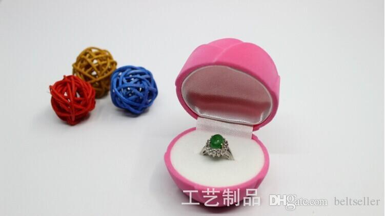 Romatic rot rosa rose blume Schmuckschatulle Ring Box Ohrringe Box Verpackung Geschenkbox 6 CM * 6 CM * 6 CM