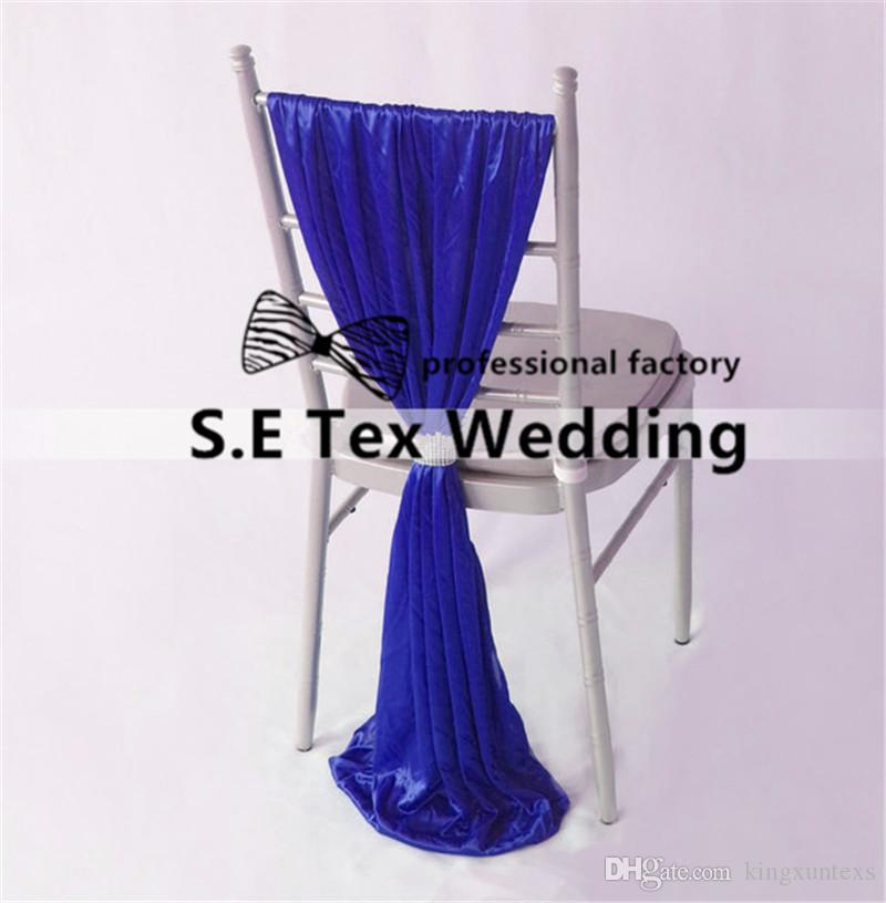 Ice Silk Chair Sash With Buckle Fit For Chiavari Chair Decoration For Wedding Event Decoration